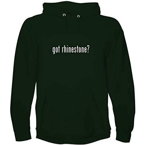 - The Town Butler got Rhinestone? - Men's Hoodie Sweatshirt, Forest, Small