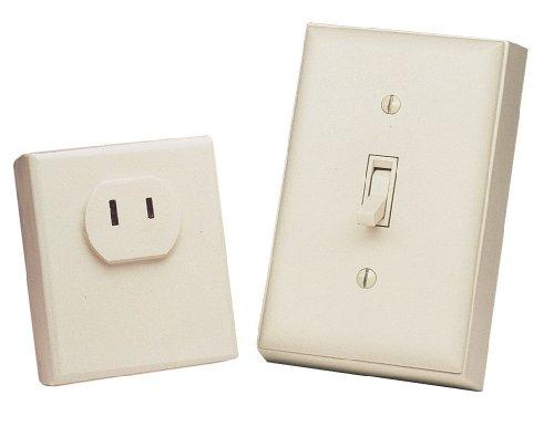 (Heath Zenith BL-6136-LA Basic Solutions Wireless Switch and Plug-in, Light Almond)
