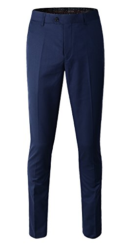 navy blue dress pants - 3