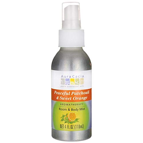 Aura Cacia Room and Body Mist, Peaceful Patchouli and Sweet Orange, 4 Fluid Ounce ()