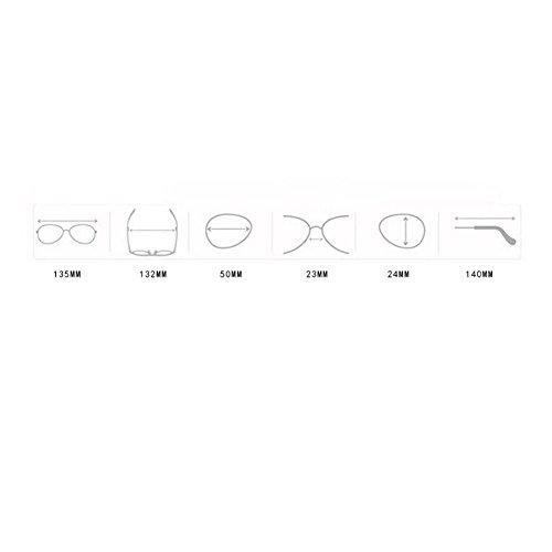Gafas ovaladas Sol Metal Fiesta Moda de Para Pequeño Gafas Para day de Mujer F de Happy Retro Aviador Marco Mujer Sol Unisexo xAqTWP6R