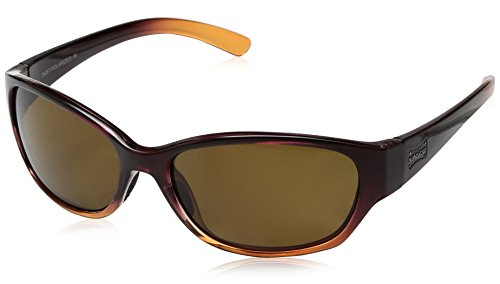 Suncloud Duet Sunglasses, Wine Fade Frame/Brown Polycarbonate Lens, One Size