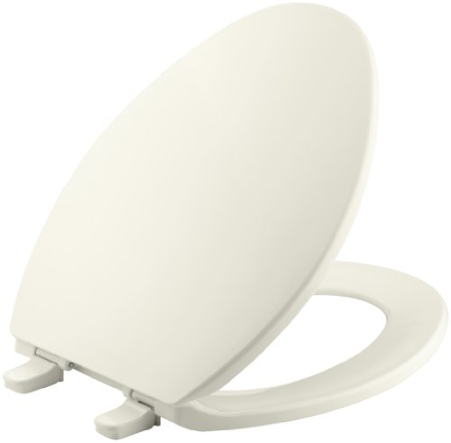 Price comparison product image KOHLER K-4774-96 Brevia with Quick-Release Hinges Elongated Toilet Seat, Biscuit