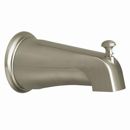 Moen 3808BN Kingsley Replacement Shower Tub Diverter Spout, Brushed ...