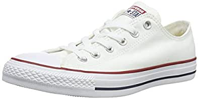 Converse Chuck Taylor All Star Sneakers Unisex, Optical White: 4.5 US Men / 6.5 US Women