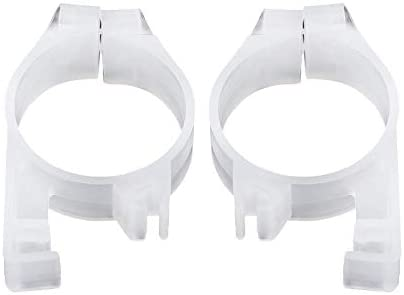 Rockyin Motorcycle Front Fork Sliders Clips Protection Guards Fit For Kawasaki KLX650 KLX250R White