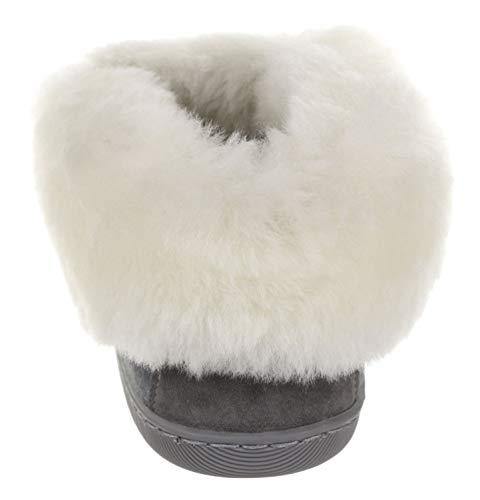 Mules En Peau Laine De Pantoufles 20 Des Gris Femmes Vg D'agneau Caoutchouc Intérieur Chaussons Fourrure blanc Mouton Semelles Et Chausson BxRn84q