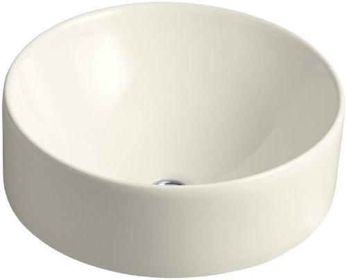 Kohler 14800-96 Vitreous china Above counter Round Bathroom Sink, 18.701 x 18.701 x 10.236 inches, - Stand Sink Vessel