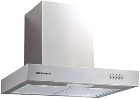 Orbegozo DS 56160 B IN - Campana extractora 60cm, acero inoxidable, capacidad de extracción 644,6 m3/h, filtros de aluminio desmontables, 3 niveles de potencia: Amazon.es: Hogar