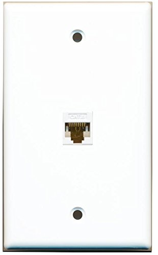 RiteAV 1 Gang 1 Port Cat6 Wall Plate - White