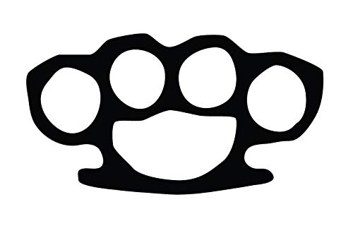 CRDesign Brass Knuckles Vinyl Sticker Decal for Car Truck SUV Self Defense (Black) (Self Defense Knuckles)