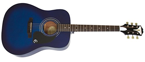 Epiphone EAPRTLCH1 PRO-1 Acoustic Guitar, Trans Blue by Epiphone