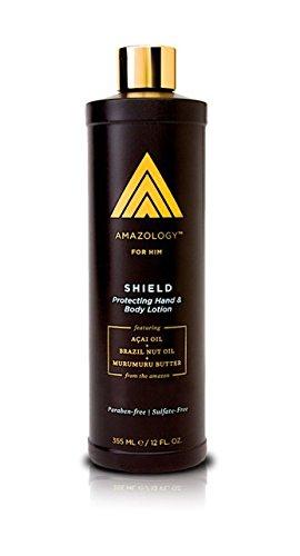 Amazology Shield Hand & Body Lotion for Men - Antioxidant Ri