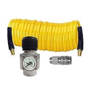 Interstate Pneumatics WRCO2-K1 CO2 regulator, Recoil hose and Coupler Kit (Air Quality Hose Polyurethane Premium)
