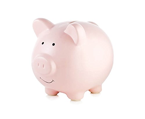 - Tiny Ideas Ceramic Piggy Bank, Makes a Perfect Unique Gift, Nursery Décor, Keepsake, or Savings Piggy Bank for Kids, Pink