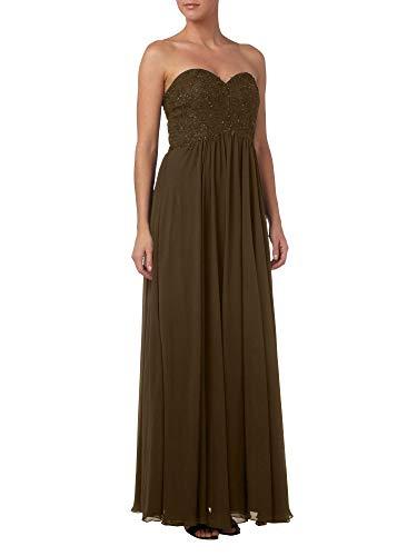Braut La Brautmutterkleider Abendkleider A Marie Spitze Braun Partykleider Linie Bodenlang Elegant Rock Bq1f6nqZ5