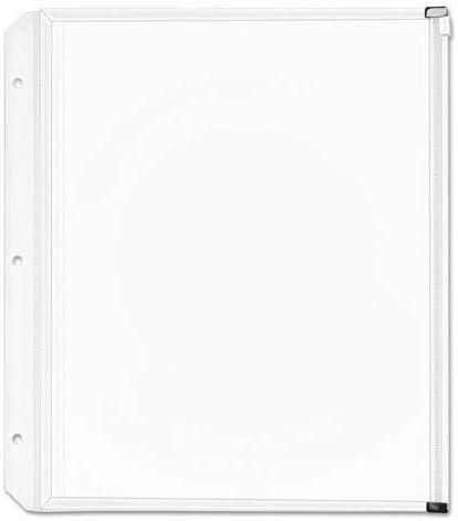 Zippered Binder Pockets, 14x1x11, Clear, 3 Pockets/Pack [並行輸入品]