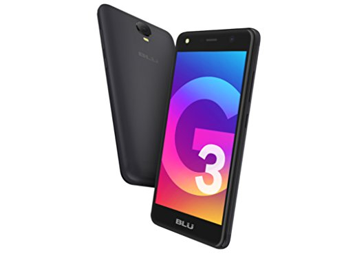BLU Studio G3 S770p 5.2'' Smartphone 8GB Unlocked GSM Dual Sim Android (Black) by BLU