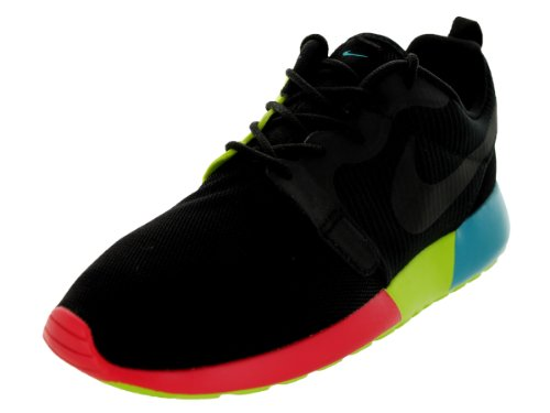 Nike Women's Nike Rosherun HYP Black/Black/Trb Green/Vnm Grn Running Shoe 7.5 Women US