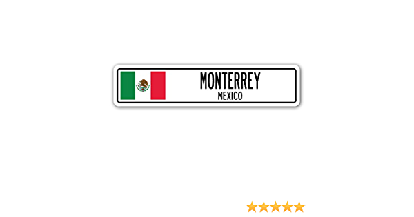 MEXICO Street Sign Mexican flag city country road wall gift MEXICO CITY