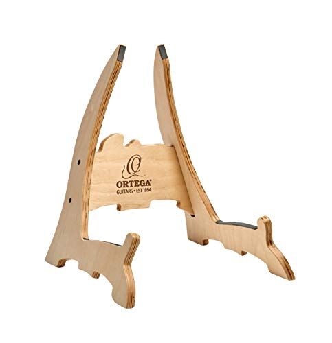 - Ortega Guitars OWGS-2 Birch Wood Guitar Stand, Natural Bright
