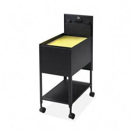 Lorell Standard Mobile File – 1 Shelf – 4 Caster – 13.5″ X 24.8″ X 28.3″ – Black (LLR60177)