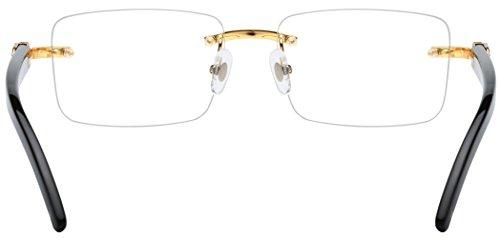 21af0e2699b1 HEPIDEM Buffalo Horn Handmade Sun Glasses Square Rimless Luxury Sunglasses  0816