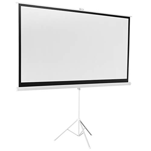 AmazonBasics 100 Inch 16:9 Portable Projector Screen - White