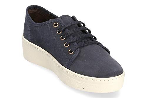 Wedge Low Shoes Basket Women Dunkel Natural Blau World OXZnxwIP
