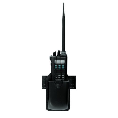 Safariland 762 Radio Carrier with Formed Pouch and Swivel, Black, Basketweave