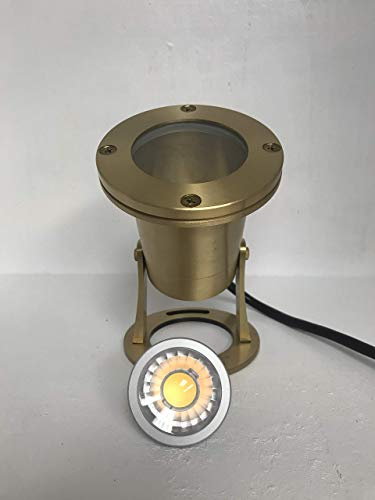 Lumiere LED Low Voltage Waterproof Underwater Pond Light Solid Brass Architectural Landscape Lighting - Include LED MR16 5W 2700k Warm White