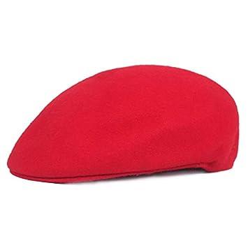 MKHDD Unisex Boina Pura Sombreros De Lana Gorras Gorra Plana Sombreros  Vintage para Mujeres Hombres Sombrero De Sol Octagonal eff2a17eb8e