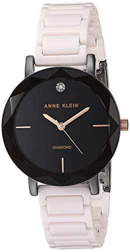 - Anne Klein Women's AK/3365GYLP Diamond-Accented Blush Pink Ceramic Bracelet Watch