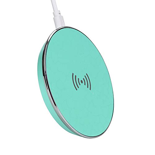Glvsz New Qi Wireless Charger Fast Charging Pad for Samsung, iPhone 8/8 Plus/Xiphone X. Mint Green (My Galaxy S3 Wont Turn On Or Charge)
