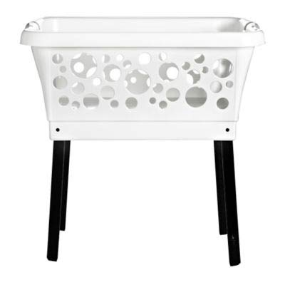Lakeland Laundry & Washing Basket On Retractable Legs - 45L (Saves Bending)