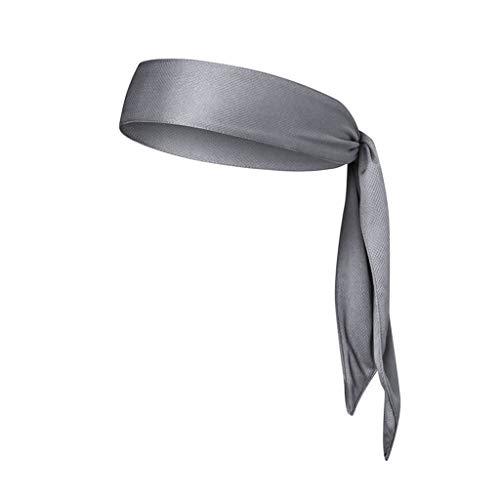 Startview Sports Headbands, Elastic Sweatband, Anti-Slip Yoga Hair Band, Adjustable Moisture Wicking, Yoga (Gray, Free) -