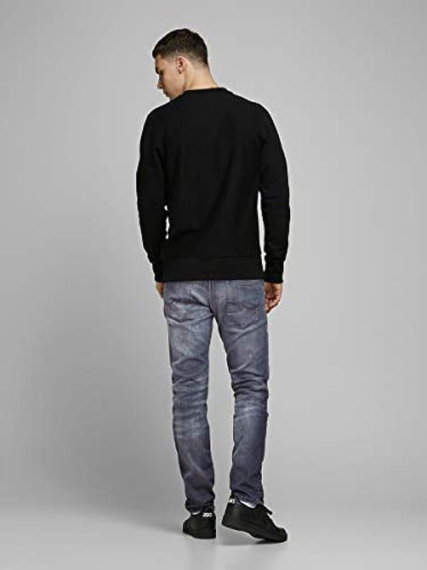 Jack & Jones 12174550 jeansy męskie, kolor: szary denim , rozmiar: 32W / 34L: Odzież