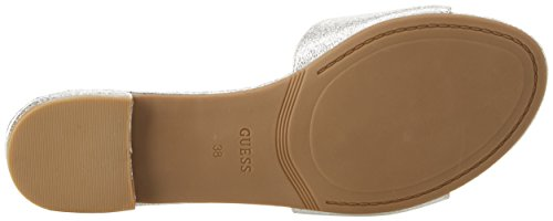 Guess Footwear Dress Slide One Band, Sandali Punta Aperta Donna argento