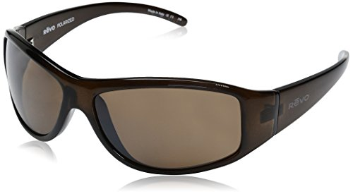 Revo Re 5014 Tander Wraparound Polarized Wrap Sunglasses, Brown Horn Terra, 64 - Revo Sport