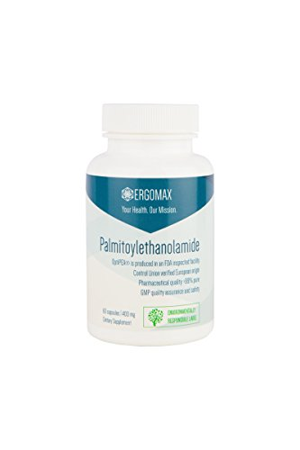 (Ergomax - Palmitoylethanolamide - OptiPEA® - Natural Pain Relief - 60 Capsules 400mg)