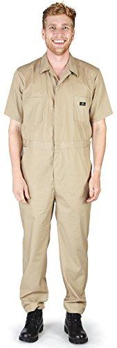 NATURAL WORKWEAR - Mens Short Sleeve Coverall, Khaki