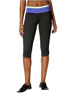 Calvin Klein Performance Capri Leggings Black/Purple/Lime Green Large