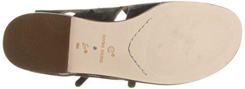 Corso Como Vrouwen Tiki Plat Sandaal Zwart Versleten Leer