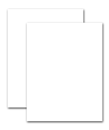 Premium White Card Stock Paper - 100 lb. Cover (270 gsm) - Heavyweight 8.5'' x 11'' - Pack of 100 Sheets - Accent Cover Index Finish by Office Crafts and More
