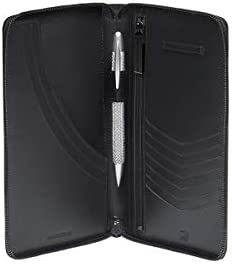 Porsche Leather Folder Travel Documents Credit Card Case Cardholder Black