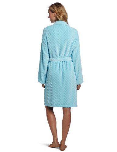 Robe Taille Collection Spa Hotel Apparel White Seven Plush unique Optic Blanc Green nzqTXnxw