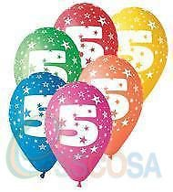 Birthday Balloons X 10 Pcs Happy 5th Amazoncouk Toys