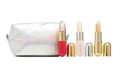 Winky Lux Balm Baby Trio - Glimmer Balm, 24kt Gold Glimmer Balm & Flower Balm by Winky Lux