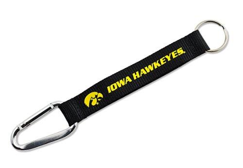NCAA Iowa Hawkeyes Carabiner Lanyard Keychain - Iowa Hawkeyes Logo Keychain