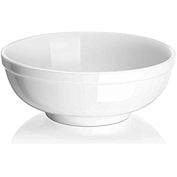 DOWAN 3 Packs Porcelain Soup Bowls, 32 Ounces for Cereal, Salad, and Pasta Bowls, White